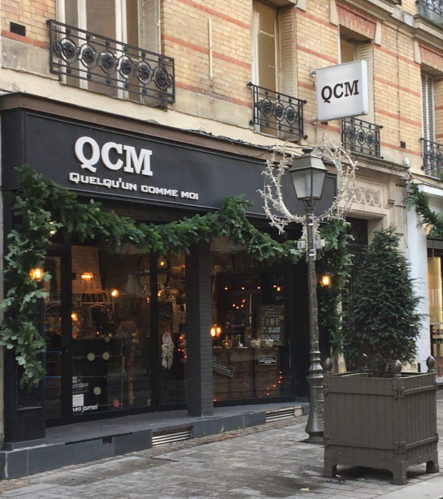 Q C M une jolie boutique déco à Suresnes où l'on peut vraiment se faire plaisir