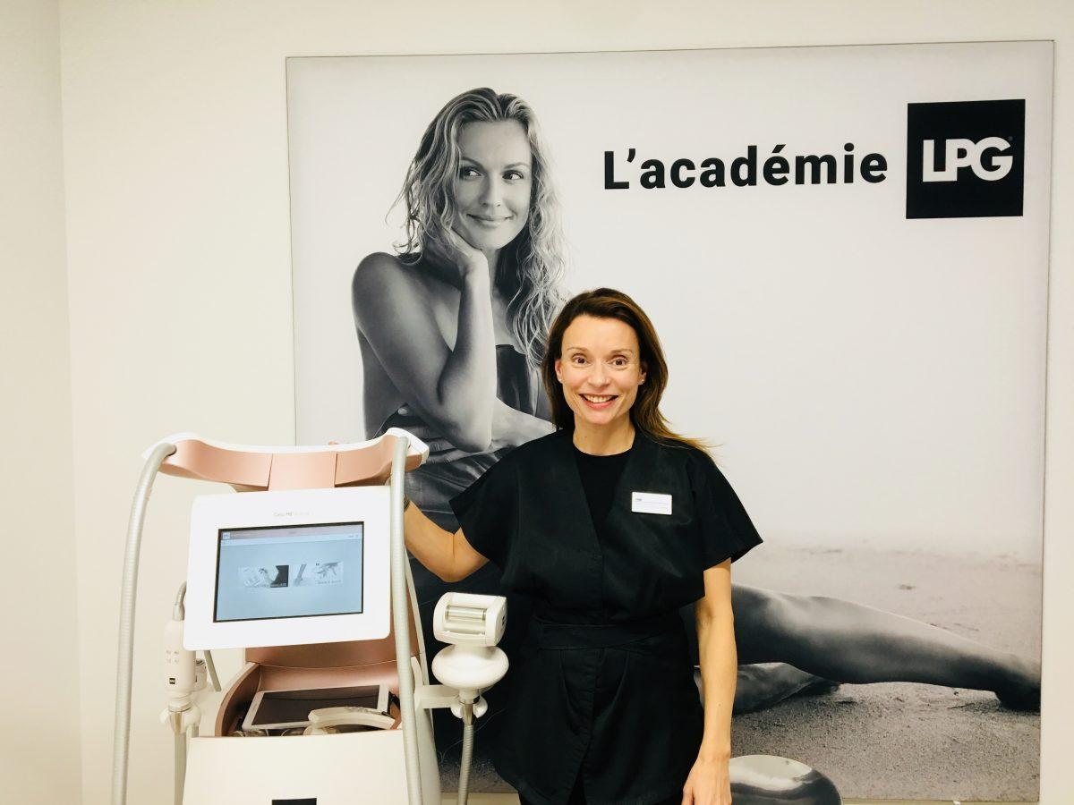 Karine l'experte formatrice chez LPG endermologie à Levallois