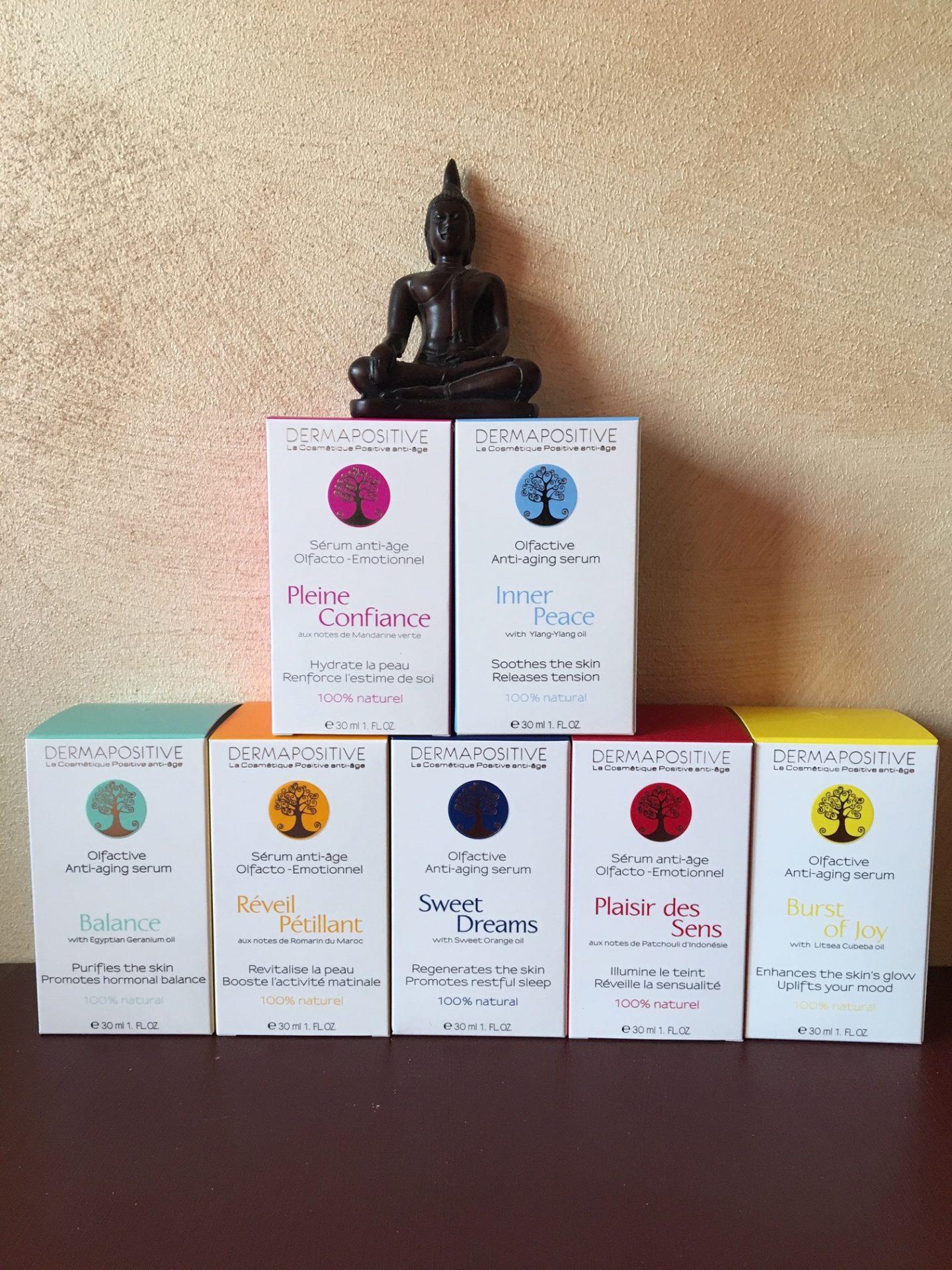 Ce n'est pas un mais 7 sérums que Dermapositive nous invite à découvrir dans des voyages olfactifs!