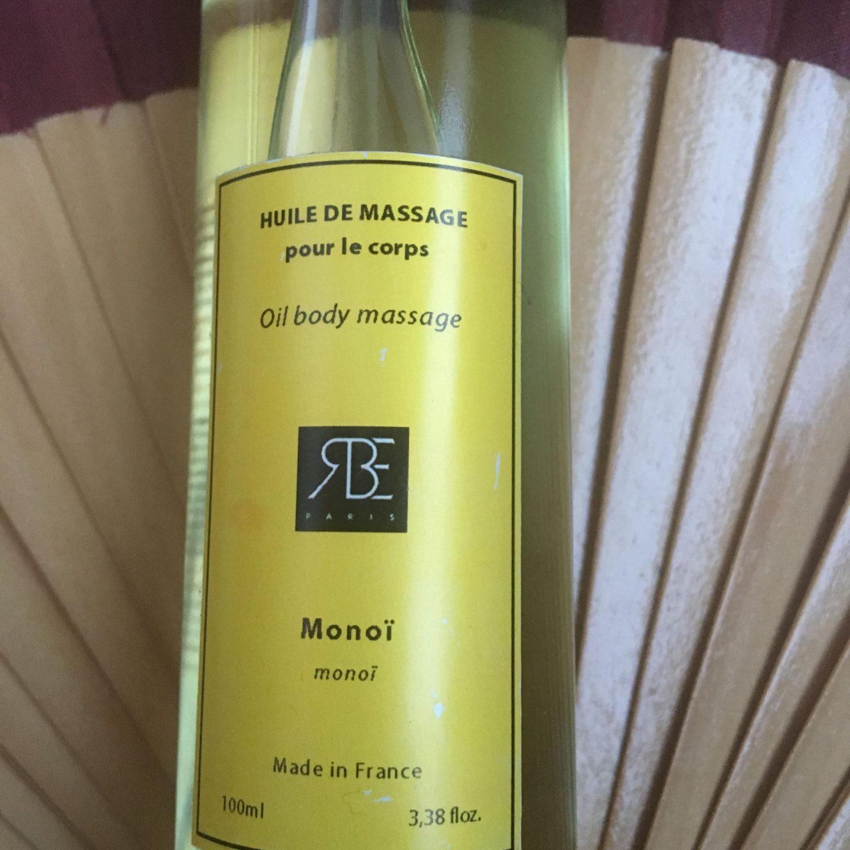L'huile de soin au monoï et huile d'argan de rêve-bienêtre