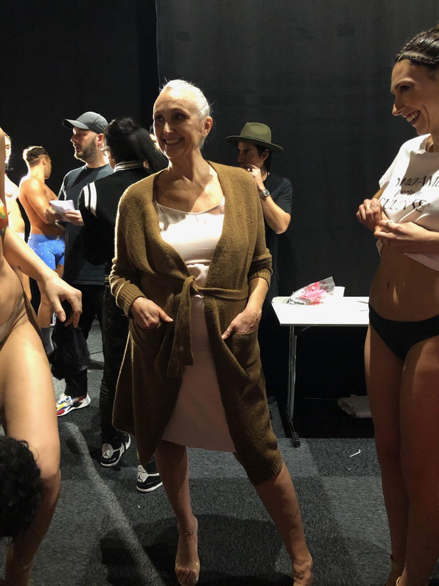 Salon de la lingerie et mon premier catwalk à presque 60 ans